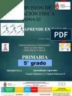 5° PRIMARIA E.F. CRONOGRAMA TRABAJO A DISTANCIA