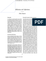Benjamin, Walter - Reflections And Aphorisms