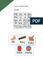 encontrar palavras na sopa de letras, 1 Maiusc