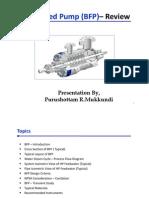 Boiler Feed Pump (BFP)– Review