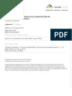 A. Troianiello - Les droits fondamentaux, fossoyeurs du constitutionnalisme