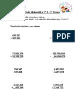 Guía Matemática N°1 - 5° básico