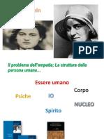 La persona umana secondo Edith Stein