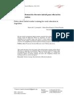 CLASE 2 - POLITICAS DE FORMACION DOCENTE