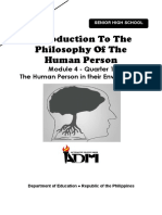 Module 4_IntroPhilo_Q1_Mod4_The Human Person in Their Environment