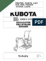 Parts list catalog Kubota KX008-3 U10-3 - 978P910072 (1).pdf