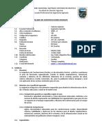 Silabus de Construcciones Rurales - 2020 0 - Ingeniería Agricola