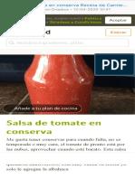 Salsa de tomate en conserva Receta de Carmen Palomino - Cookpad