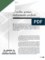 Violín el instrumento perfecto ACTA