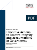 Executive Actions to Restore Integrity and Accountability in Government