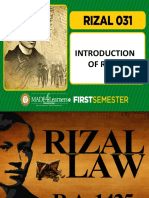 INTRODUCTION OF RIZAL