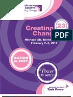 Creating Change 2011 Program