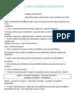 Lista de revisão sobre as plantas com respostas