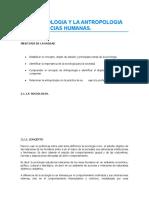 2. LA SOCIOLOGIA Y LA ANTROPOLOGIA COMO CIENCIAS HUMANAS.
