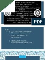 4.4 Nanofibras para usos en non woven