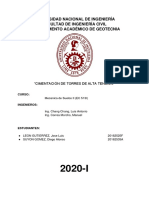 CIMENTACION DE TORRES DE ALTA TENSION