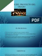 PARTES DEL PROYECTO DEl GRADO