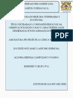 CONSTANTES FISIOLÓGICAS EN ANIMALES DOMÉSTICOS