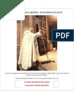 LETTERA AGLI ARTISTI  JOANNES PAULUS II
