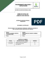 GR-PR-01. PROCEDIMIENTO INDUCCION Y CAPACITACION