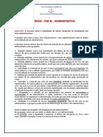 RESIDÊNCIA - PGE-RJ - Questoes de Administrativo - DEMONSTRATIVO
