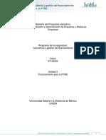 Unidad 2. Financiamiento para la PyME