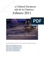 Agenda Cultural Zacatecas - Febrero 2011