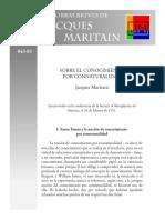 Maritain Conocimiento por connaturalidad.pdf