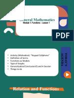 Week 1 Lesson - Functions as Models