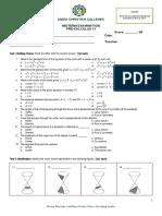PreCalculus Midterm (1stQ)