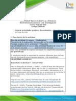 Guia de actividades y Rúbrica de evaluación - Unidad 1 - Fase 3 - Tipos de hoja de vida