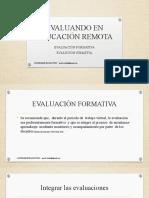 EVALUANDO EN EDUCACIÓN REMOTA