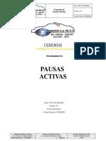 PROCEDIMIENTO PAUSAS ACTIVAS CEBENSSI