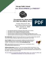Area 13 Professsional Development for Parents