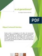 Qué es el garantismo Carbonell Material
