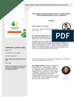 Agenda VIII Congreso Departamental De Salud Y Ámbito Laboral