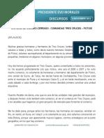 II. 08 - 11 - 2014  PRESIDENTE EVO MORALES ENTREGA DE COLISEO CERRADO - COMUNIDAD TRES CRUCES – POTOSÍ
