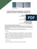 Planificación Estrategica Caso de Cooperativa NE Ltda