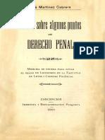 Estudio sobre algunos puntos de derecho penal