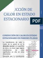 CONDUCCIÓN DE CALOR EN ESTADO ESTACIONARIO