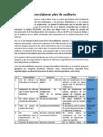 Indicaciones para elaborar plan de auditoría 2020 II