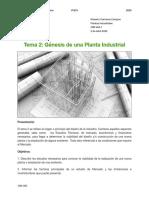 Tema 2- Génesis de una Planta Industrial .
