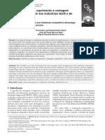 Artigo - Gestão Da Cadeia de Suprimentos e Vantagem Competitiva Relacional Nas Indústrias Têxteis e de Caçados