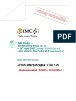 Moderation Script (04/2006)