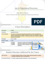 0.0 Introduction to Separation Processes