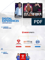 DSG Digital Experiences Deck