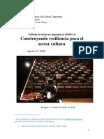 Políticas en Respuesta al COVID-19 Construyendo Resiliencia para el Sector Cultura