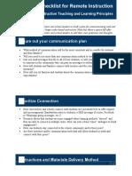 Remote Instruction Checklist (1)