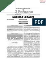 Edición Extraordinaria Normas Legales  06/10/2020