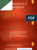 8°. Diapositivas. Causas internas de la independencia